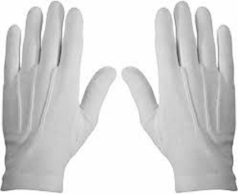 1 Pair White Formal Gloves Tuxedo Honor Color Guard Parade Santa Mens Inspection