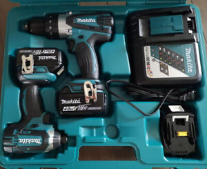 Ensemble Perceuse Visseuse Makita 3 batterie 4 Ah 18v