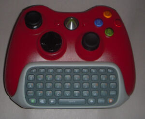 Xbox 360 rechargeable controller with chat pad