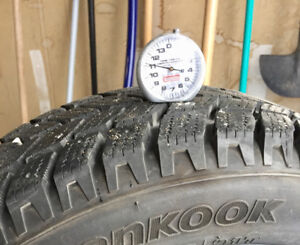 195/65R15 Winter Tires on Alloy Rims 4x100 mm
