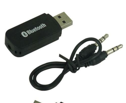 USB Wireless Bluetooth Receiver 3.5mm AUX Audio Stereo Music Home Car Adapter