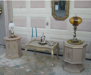 Chic Accent Table and Stands (45.00 Each)