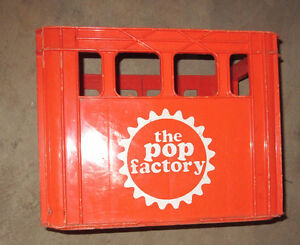 The Pop Factory plastic crate 12 by 30 ounce bottles