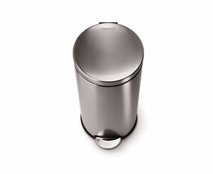 30L  Foot-Operated Garbage Can (Silver)