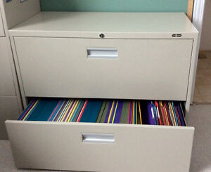 Lateral file cabinet, 2 drawer