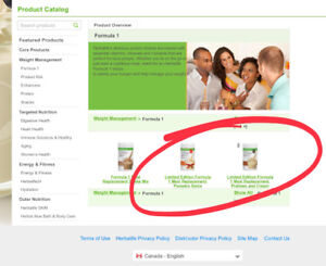 HERBALIFE fresh delivered Products ask Access Codes Montreal