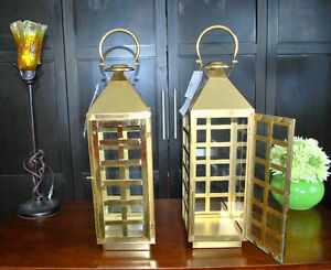 2 New Brass Lanterns