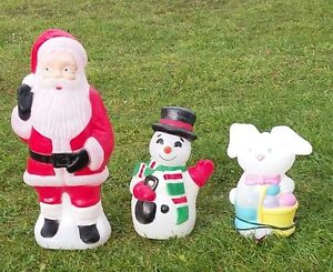 holiday plastic lightup statues