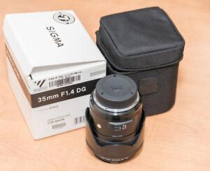 Sigma 35mm  f=1.4 (Nikon)