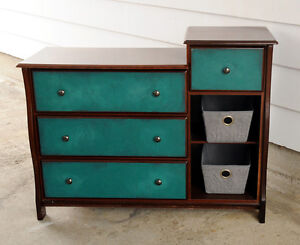 Large Dresser/Changing Table with Shelves