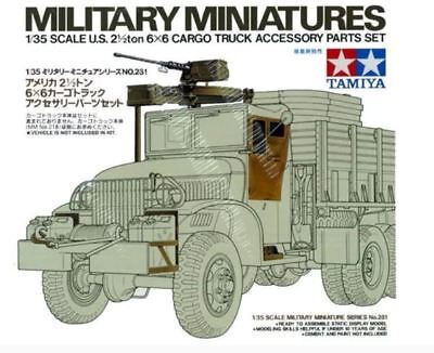 Tamiya 35231 U.S. 2-1/2 ton 6X6 Cargo Truck Accessory Set model kit 1/35