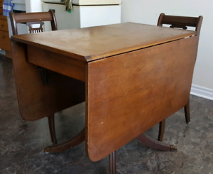 Duncan Phyfe Style Dinning Table Set