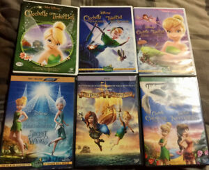 Lot Tinkerbell DVD