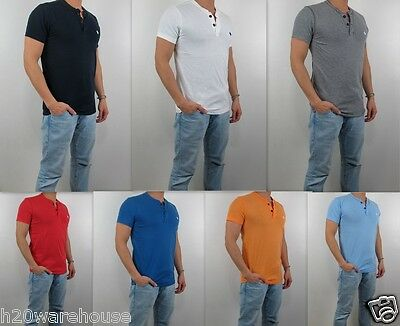 NWT Abercrombie Fitch A F 2015 Men Muscle Fit Henley Tee T Shirt By Hollister