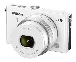 Nikon 1 J4 18.4 MP Wifi Camera 10-30mm f3.5-5.6 VR Lens (White)