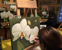SECRETS OF ACRYLIC PAINTING: FLORAL ART CLASSES