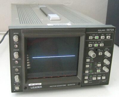 Leader Vector Waveform Monitor 525 Lines Model 5872a   -- Guaranteed --