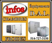 // INFO.... Équipements D.A.L. // Chambres-Froides & Congélation