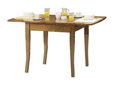 Julian Bowen Newbury Extending Dining Butterfly Table Solid Wood Maple Finish