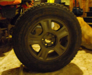 Firestone Winterforce Mud & Snow Tire on Hyundai Sante Fe Rim