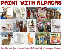 Paint with Alpacas Event