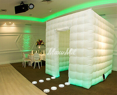 Inflatable LED Photo Booth Cube Tent - Weddings, Birthdays, Events