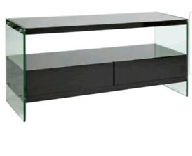 Brand new black glass tv stand