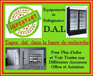 **MESSAGE IMPORTANT**ÉQUIPEMENTS DE RÉFRIGÉRATION D.A.L.**