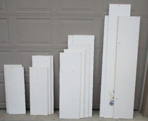 Shelves - White Boards & brackets