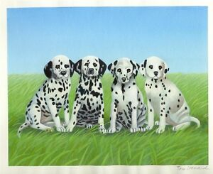 "SPOTS"" 2004 ORIGINAL UNIQUE CHILDREN'S BOOK COVER ART: DALMATIAN"