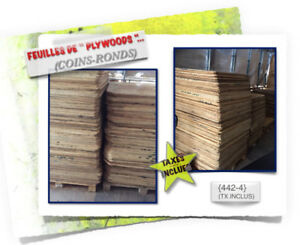 #07-(451) (2x)Dimensions > PLYWOODS \(Coins-Ronds) - 3.99$ /ch.