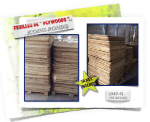 {450}-(#09) PLYWOODS \(Coins-Ronds) > (2x)Dimensions -  3.99$ /c