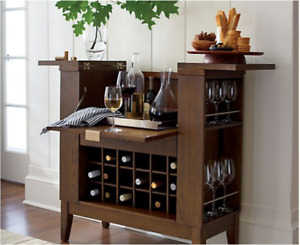 Crate and Barrel Bar Cabinet