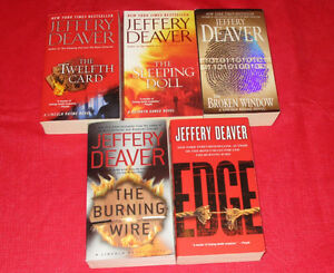 5x Jeffery Deaver paperback novels