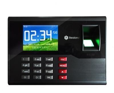 2.8realand Fingerprint Password Id Card Time Attendance Clock Employee Recorder