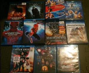 Lot Blu-ray : Spiderman, Avenger, Iron man, Captain america