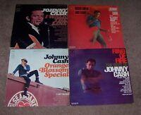 4 JOHNNY CASH RECORDS & 5 RAY CHARLES RECORDS