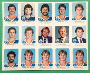 1982-83 Edmonton Oilers Red Rooster set, with 4 Gretzky cards
