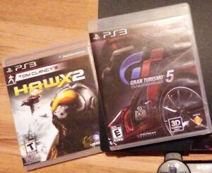 Gran turismo 5 et Hawx 2 pour PS3