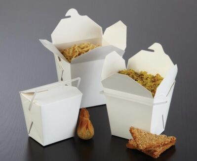 Takeaway containers with lids, noodle boxes and wooden chopstick East Melbourne Melbourne City Preview