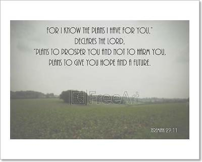 Inspirational Verse From The Bible On Art Print Home Decor Wall Art Poster - F