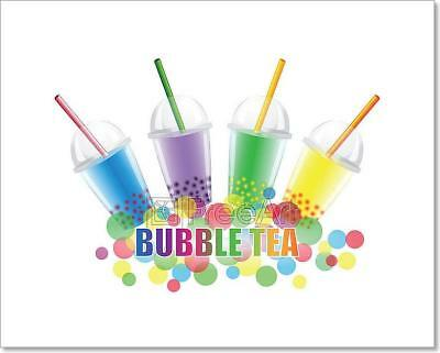 Bubble Tea Poster - Bubble Tea Art Print Home Decor Wall Art Poster - C