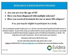 MS RESEARCH STUDY: Participants needed for Paid Study