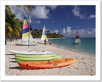 Caribbean Watersport Art Print Home Decor Wall Art Poster - D - Caribbean Decor