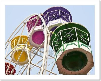 Ferris Wheel In Amusement Park. Art Print Home Decor Wall Art Poster - F ()