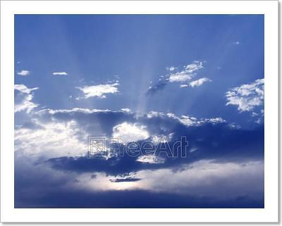 Blue Sky And Clouds Art Print Home Decor Wall Art Poster - - Blue Sky Decor