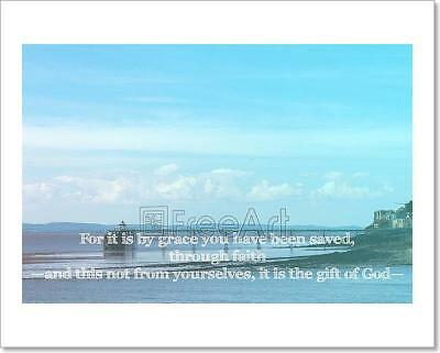 Inspirational Verse From The Bible On Art Print Home Decor Wall Art Poster - I