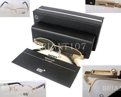 New Montblanc MB399 Eyeglasses frame gold 54mm