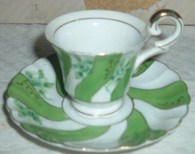 Footed Demitasse Teacup, Cup & Saucer Set UCAGCO CHINA Made in Occupied Japan