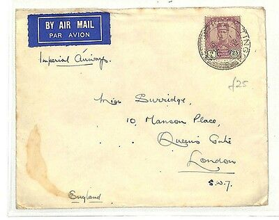 AB97 1936 Malaysia GB London Cover {samwells-covers}PTS